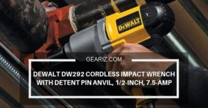 DEWALT DW292 CORDLESS IMPACT WRENCH WITH DETENT PIN ANVIL, 1_2-INCH, 7.5-AMP FEATURE IMAGE