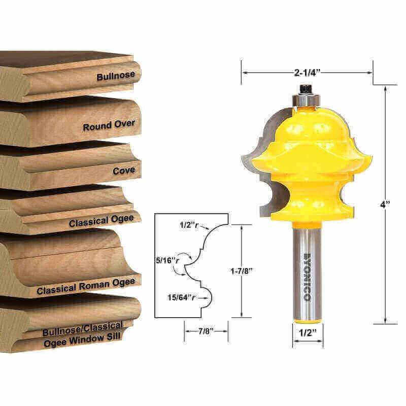 A router bit offers different shapes