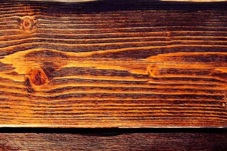 Let the stained wood dry before you proceed to the next step