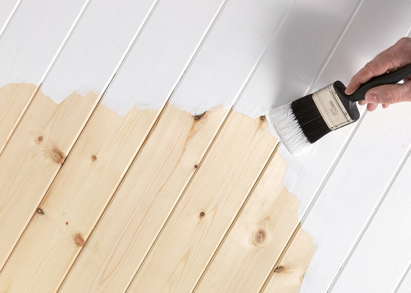 Oil-based primer works well with wood