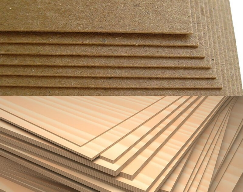 Particle board is cheaper than plywood