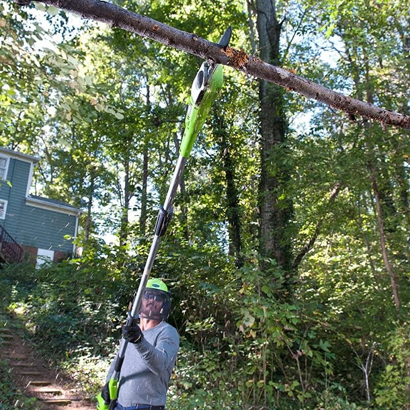Pole saw will work effectively to help you clean road all up
