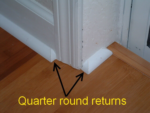 How To Cut Quarter Round Outside Corner 1