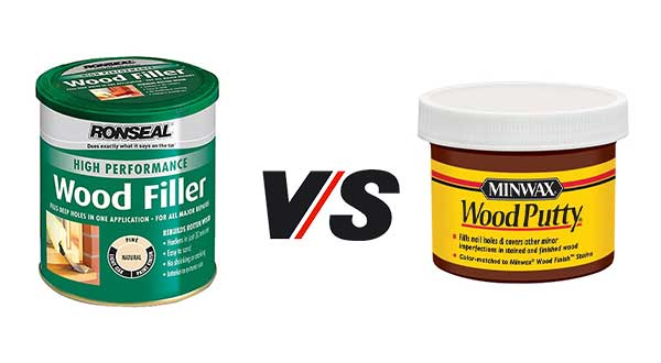 You can consider the situation to choose either wood filler or wood putty to fill the wood