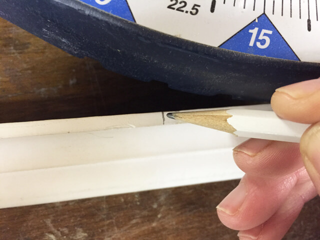 How To Cut 45 Degree Angle On Quarter Round