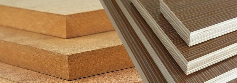 Solid wood is easier to warp and shrink than plywood