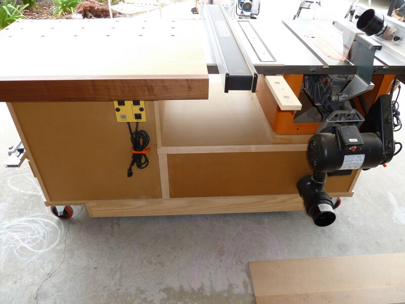 How to build a table saw workstation easy with plywood 1
