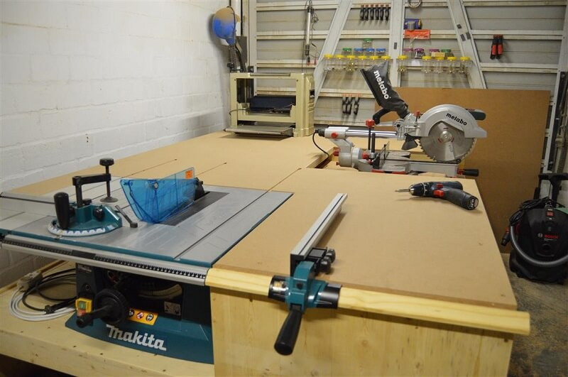 How to build a table saw workstation easy with plywood