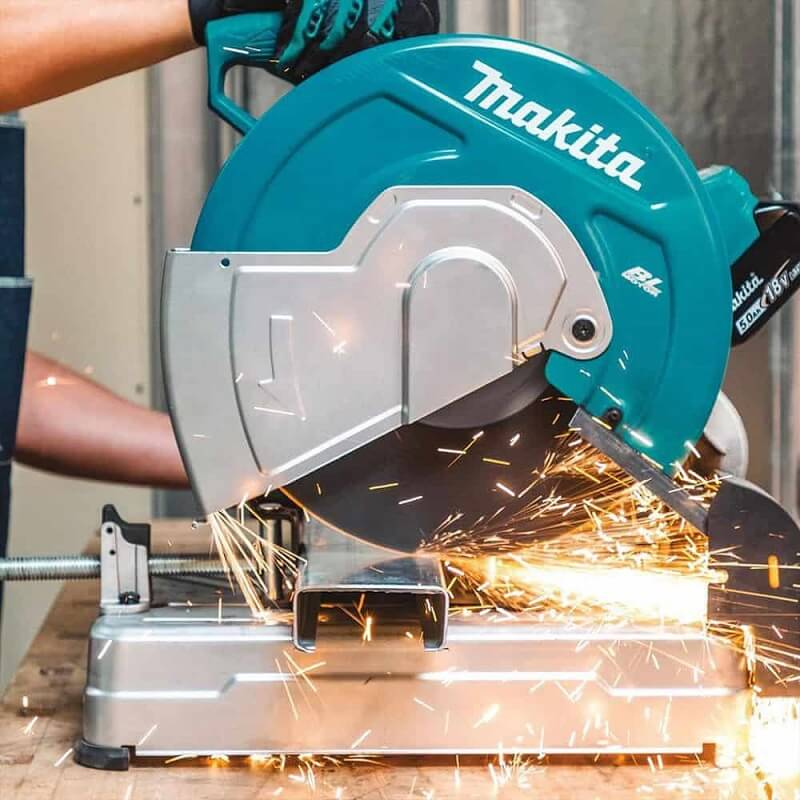 A chop saw can deal well with tough materials