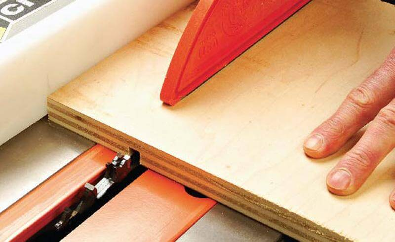A table saw is ideal for cutting wood