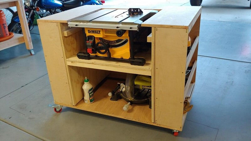 How to build a table saw workstation easy with plywood 2