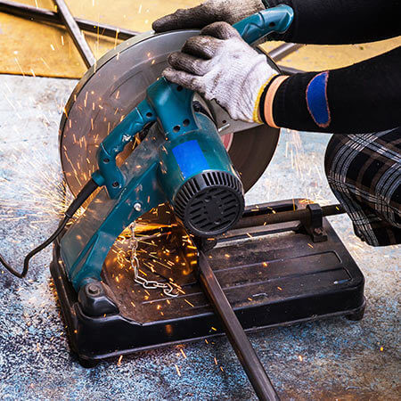 A chop saw can serve various purposes