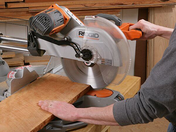 Using a miter saw is safer