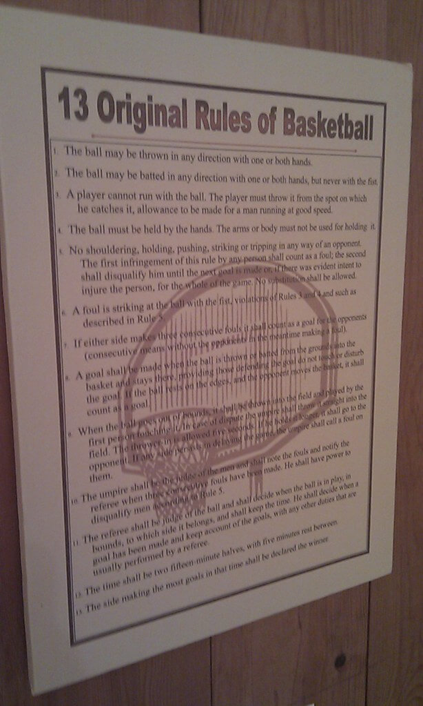 The original rules of basketball