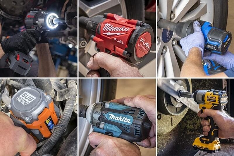 Impact wrench use to remove tough nuts and bolts