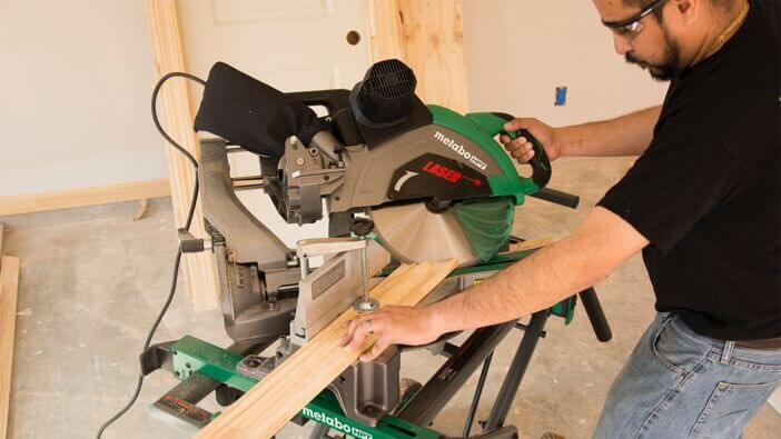 A miter saw has much better security than a radial arm saw