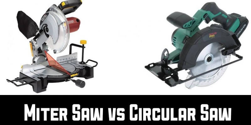 You can see that difference between a miter saw and a circular saw