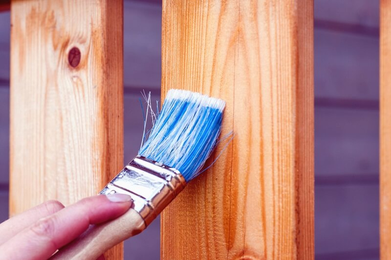 It would be best to paint the wood surface with protections