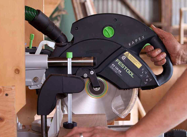 how to cut wide boards with miter saw 1