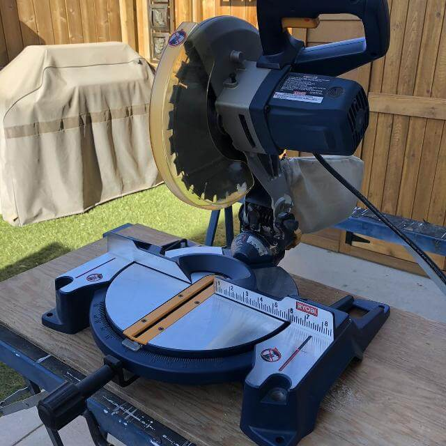 A miter saw, or a non-sliding miter saw, is a power saw equipped with a swing blade