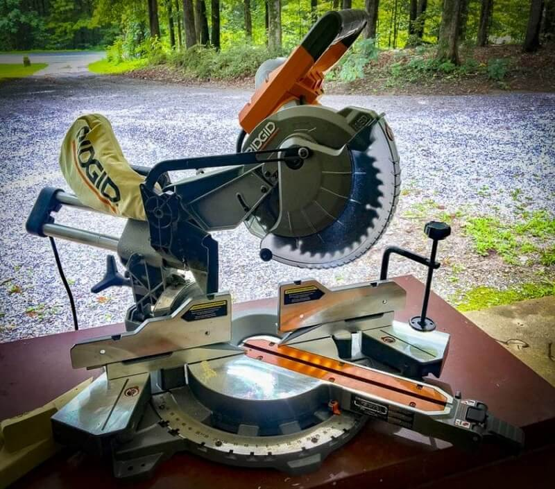 The rails of a sliding miter saw