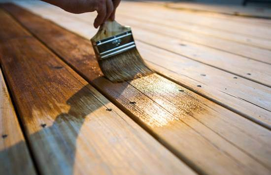 Stain the deck